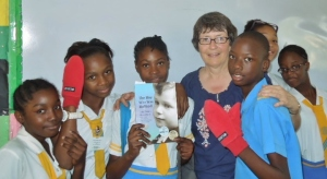 I gave 11 presentations on my book while volunteering at a school in Jamaica.